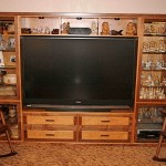 Cherry and Walnut entertainment center