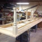 Poplar dining table