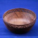 Walnut Pierced bowl