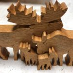 Carved-moose-
