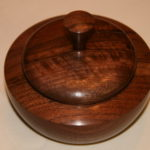 Lidded walnut bowl