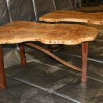 Maple burl tables
