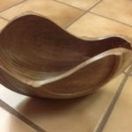 Split walnut bowl