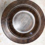 "Large walnut platter:bowl 17.25"""