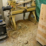 Lathe at work